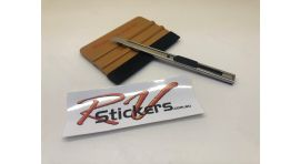Squeegee with Felt & 9mm Knife KIT 1